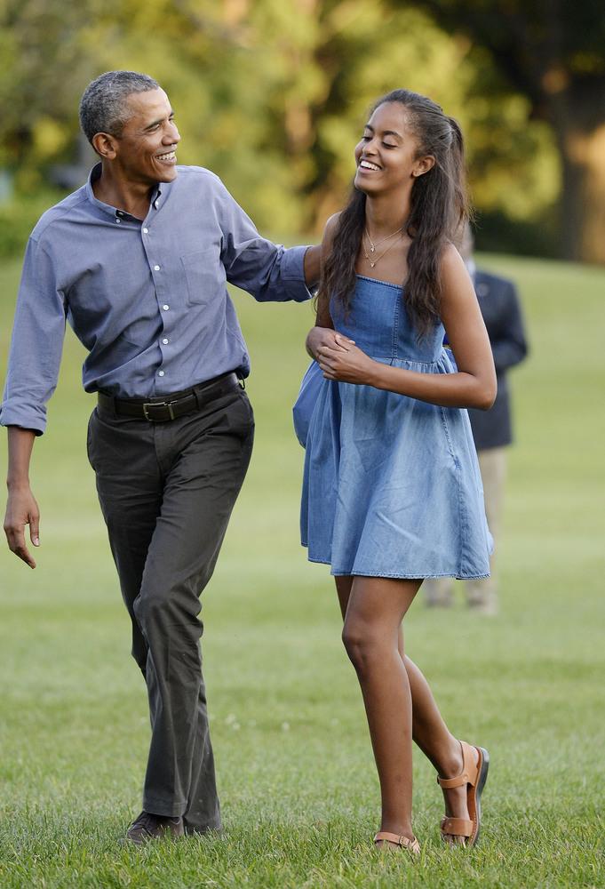 Малия и Барак Обама