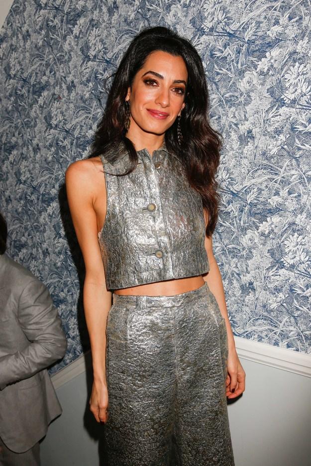 Неожиданно: Амаль Клуни появилась на светской вечеринке с мамой