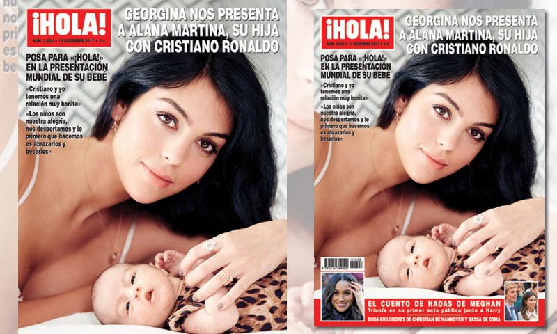 Возлюбленная Криштиану Роналду снялась с новорожденной дочерью для глянца