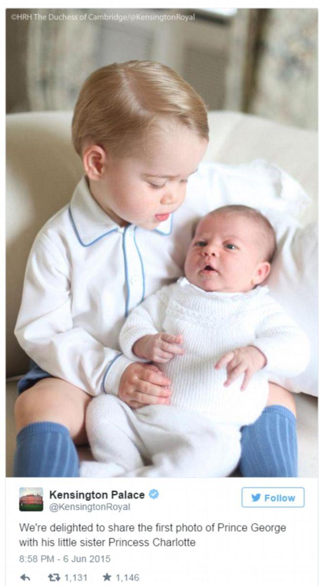 Первые официальные фото дочери принца Уильяма и герцогини Кэтрин