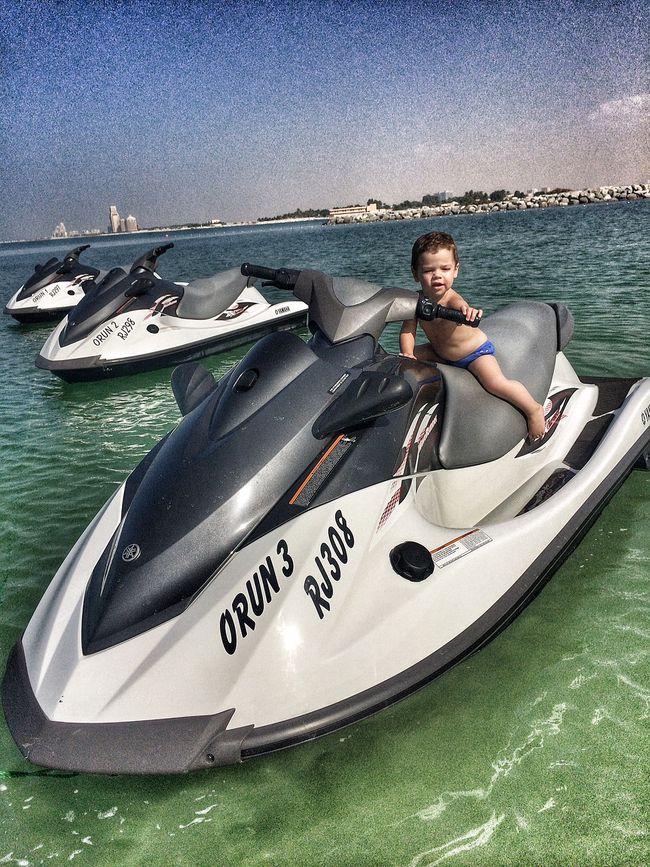 Григорий, Кристина и Ванечка Решетники в Дубае