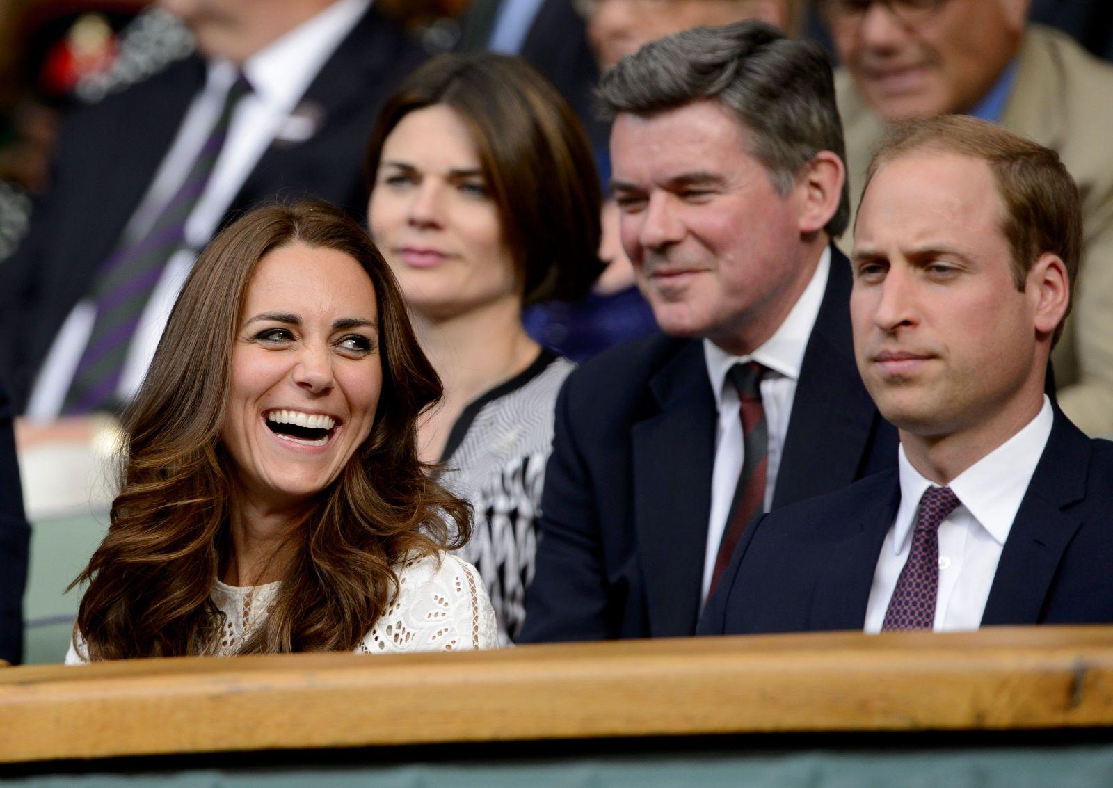 Кейт Миддлтон на теннисном турнире