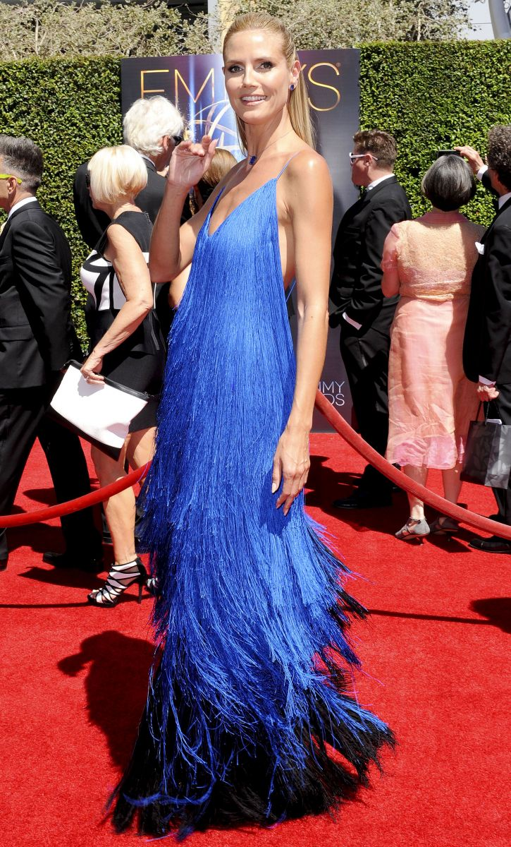 Хайди Клум сразила наповал роскошным платьем