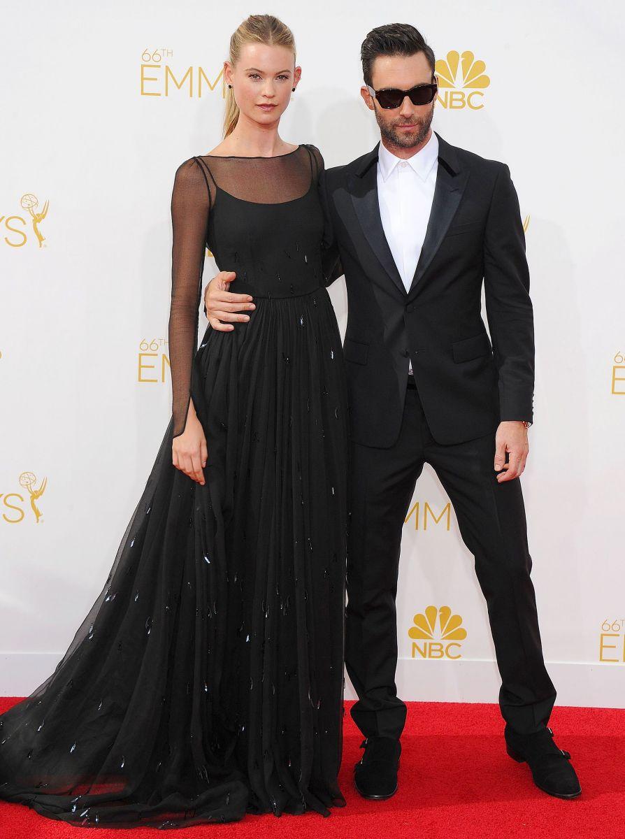 Адам Ливайн с женой