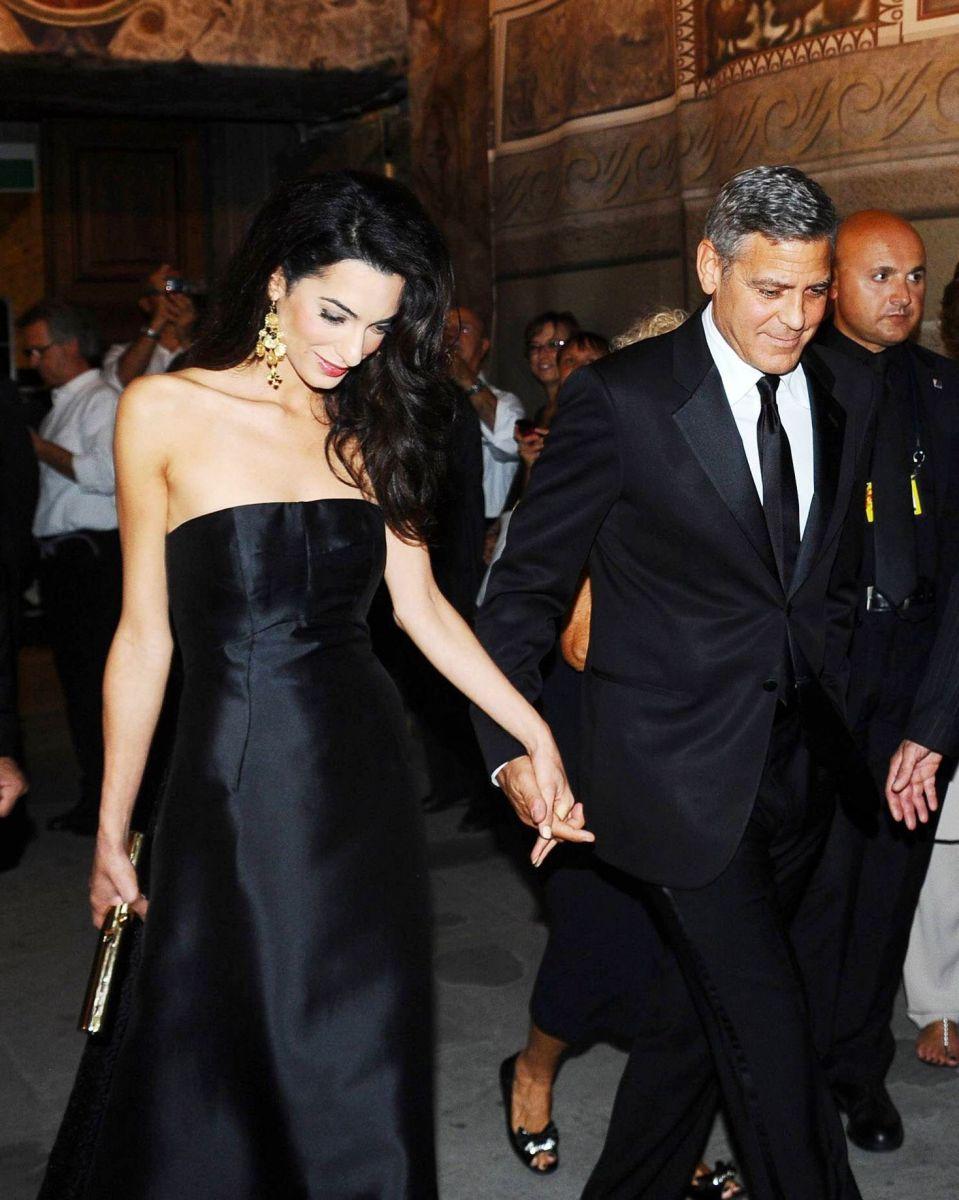Джордж Клуни и его невеста Амаль Аламуддин