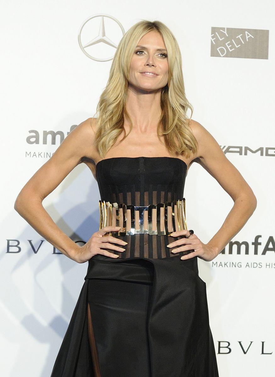 Хайди Клум блистает в роскошном платье от Versace