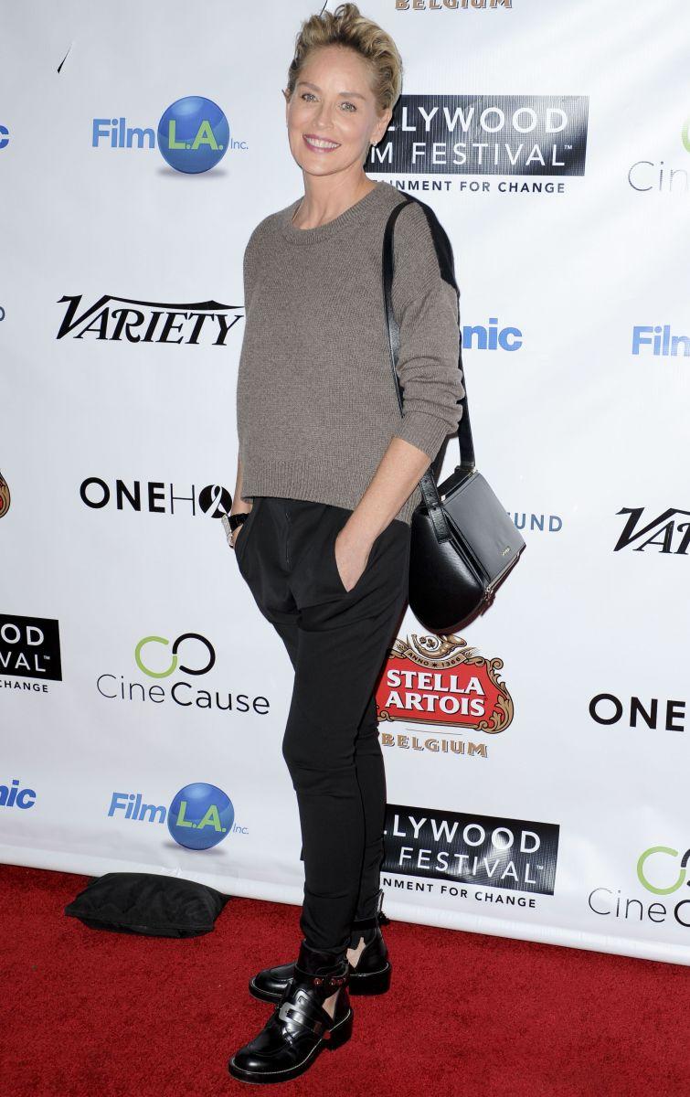 Шэрон Стоун появилась на открытии Голливудского кинофестиваля Ким Кардашьян в Красном Платье