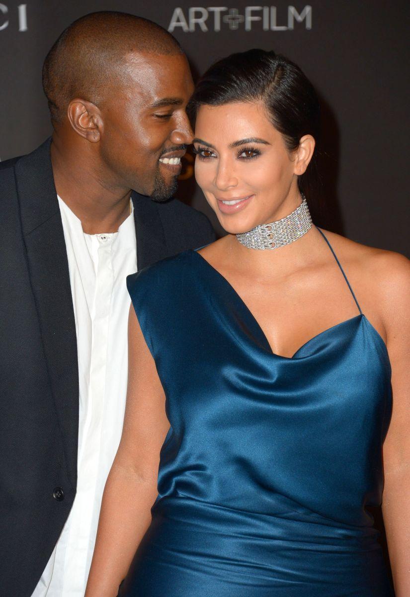 Ким Кардашьян блистает с мужем на светском мероприятии