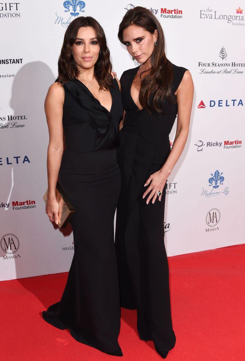 Виктория Бекхэм и Ева Лонгория блистают на благотворительном вечере