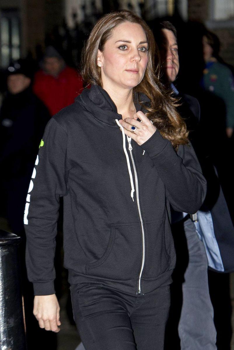 Кейт Миддлтон появилась на публике в спортивном костюме