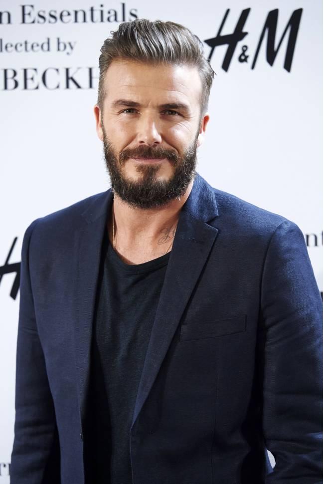 Дэвид Бекхэм с густой бородой