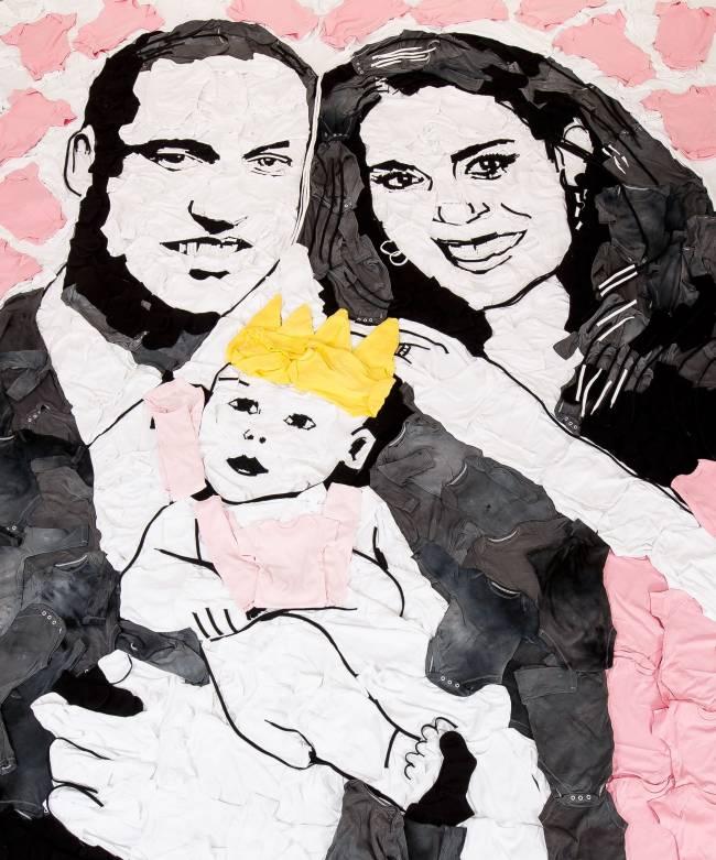 Уэльский художник создал уникальный портрет принца Уильяма и Кейт Миддлтон с дочерью