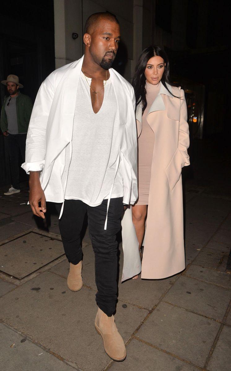 Будущие родители Ким Кардашьян и Канье Уэст блистают в Лондоне