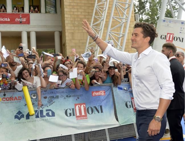 Берегитесь, девушки: красавчик Орландо Блум блистает на фестивале в Италии