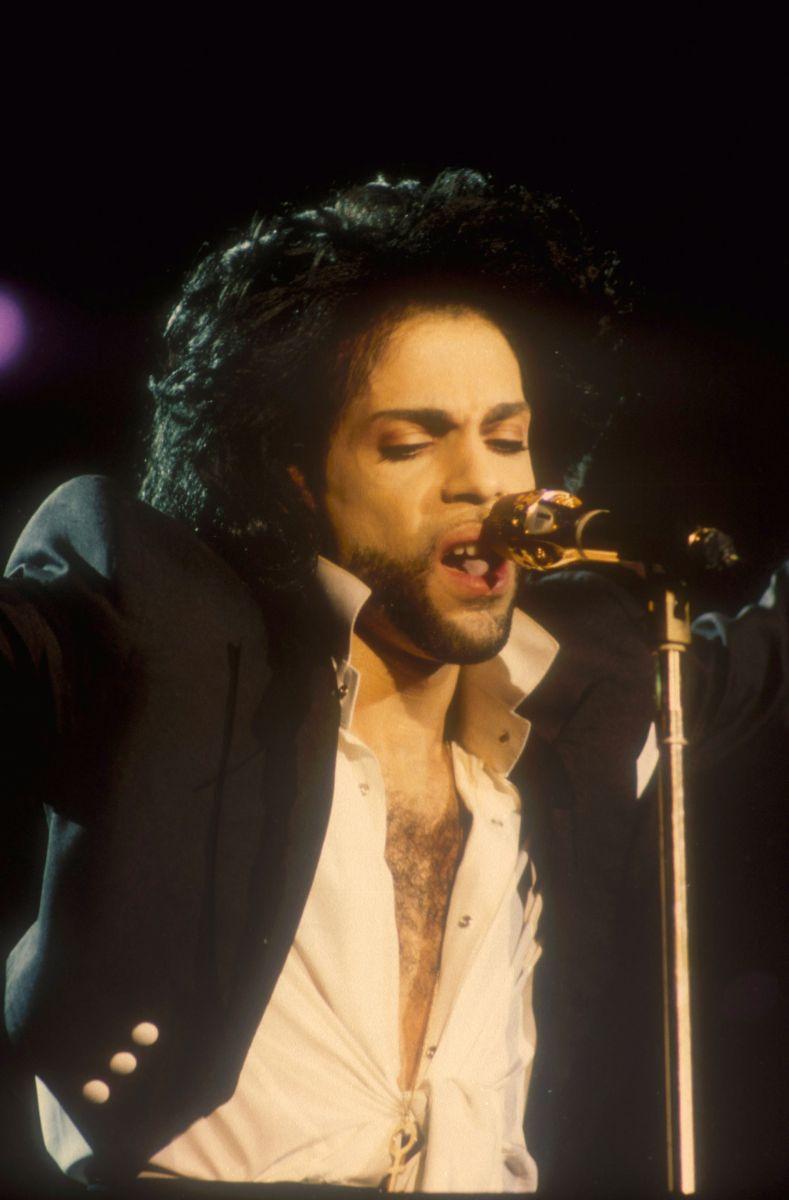 Певец Принц на концерте в Бразилии (1991)