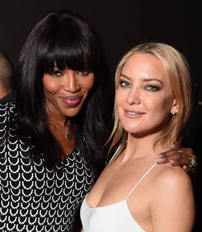 Звездная тусовка: Кейт Хадсон и Наоми Кэмпбелл повеселились на вечеринке в Нью-Йорке