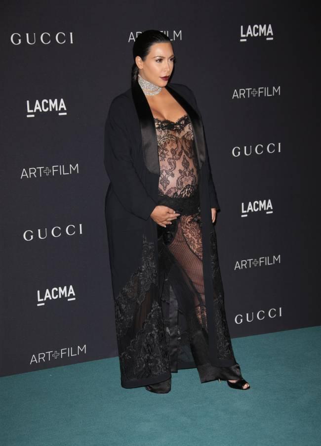 Ким Кардашьян призналась, что поправилась на 24 килограмма