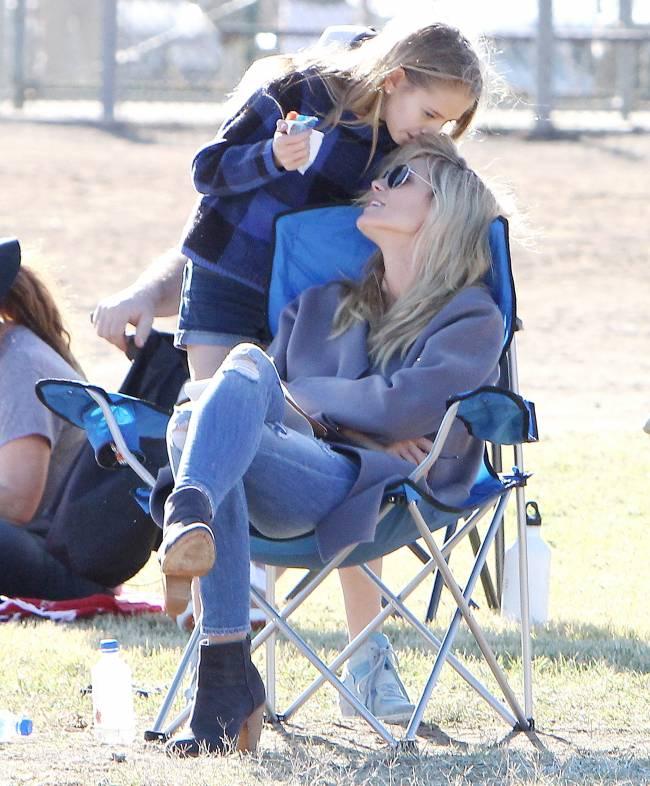 Хайди Клум провела уикенд с детьми и бывшим мужем