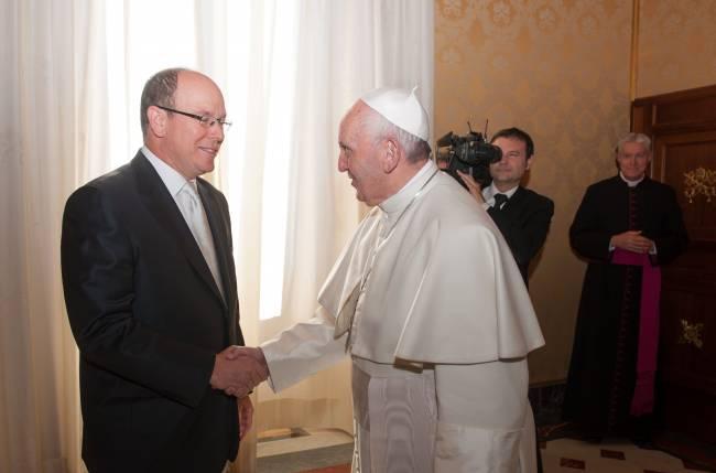 Князь Альберт и княгиня Шарлен встретились с Папой Римским