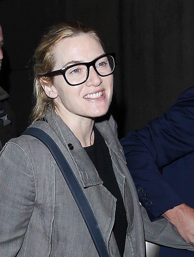 Кейт Уинслет впервые за долгое время появилась на публике без макияжа