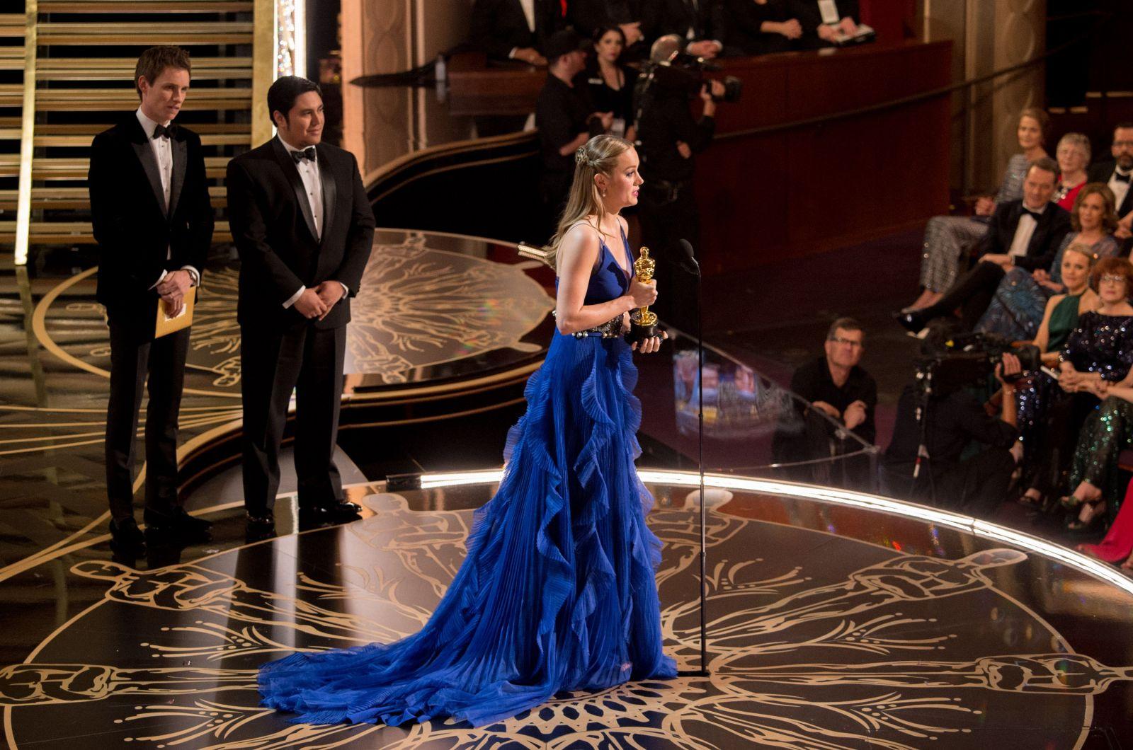 Бри Ларсон на Оскаре-2016 в платье от Gucci
