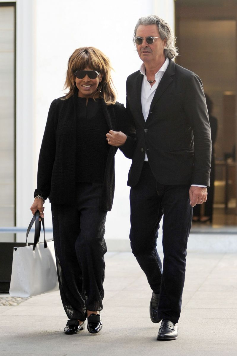 Тина Тернер со своим мужем, немецким музыкальным продюсером Эрвином Бахом