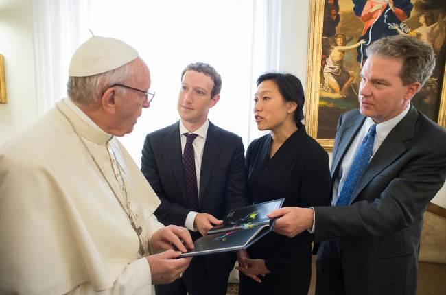 Марк Цукерберг встретился с Папой Римским
