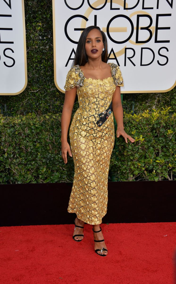 Керри Вашингтон в платье Dolce & Gabbana