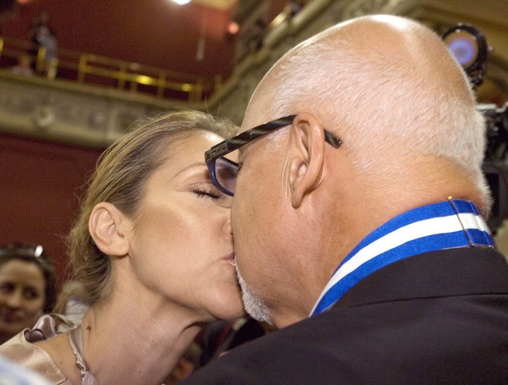 Селин Дион и ее муж Рене Анжелил