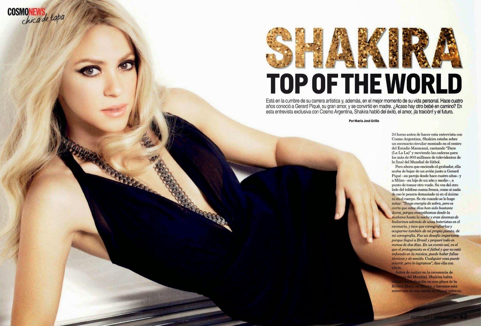 Шакира снялась в новой фотосессии