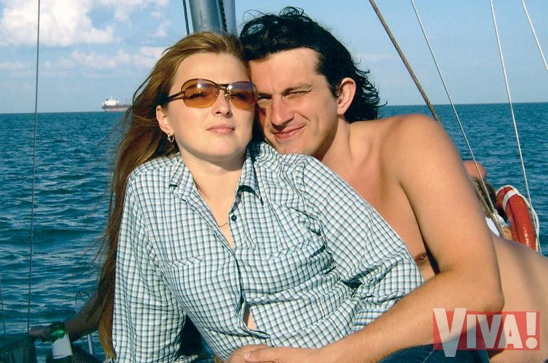 Кузьма Скрябин и его жена Светлана в журнале Viva!