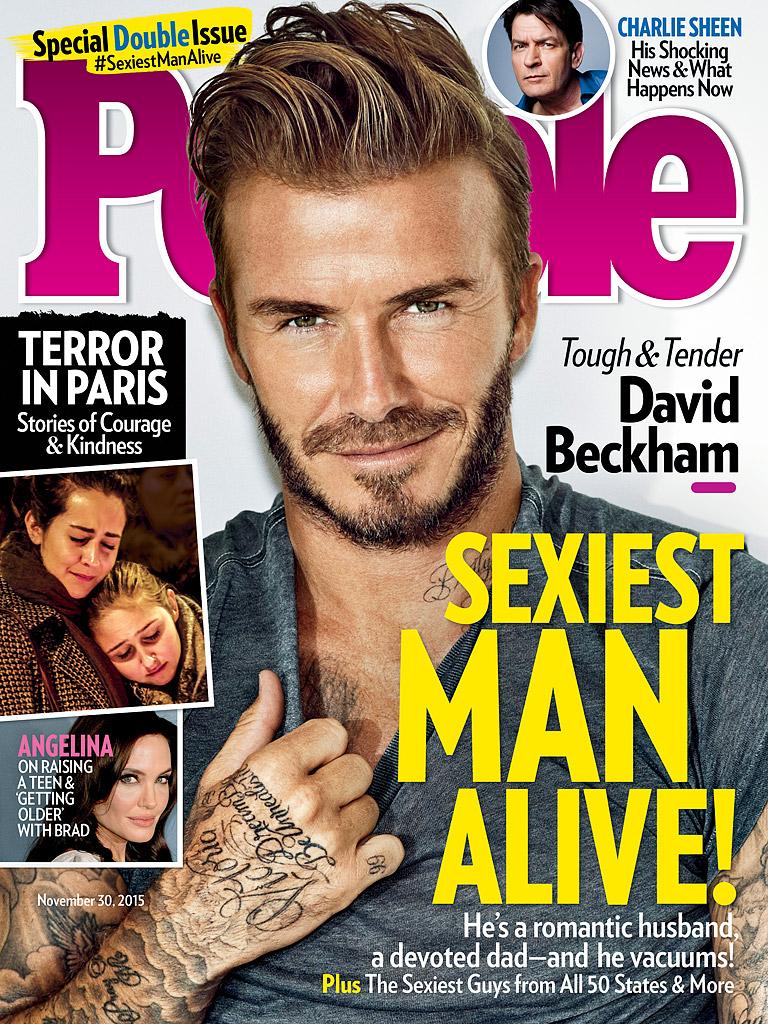 Самый сексуальный мужчина: Дэвид Бекхэм блистает на обложке People