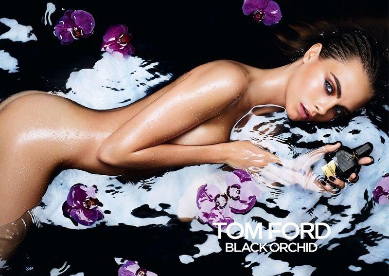 Кара Делевинь полностью обнажилась для рекламы Черной орхидеи