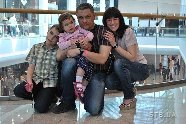 Татьяна Высоцкая с мужем и детьми