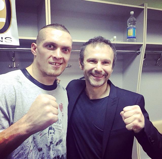 Александр Усик и Святослав Вакарчук
