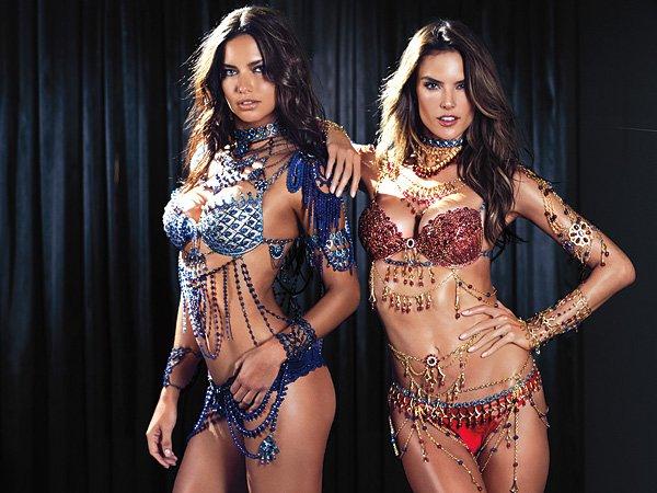 ангелы Victoria's Secret примерят бюстгальтер за 2 миллиона долларов
