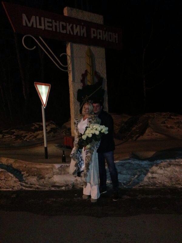 Анастасия Волочкова и Бахтияр Салимов в Орле март 2013
