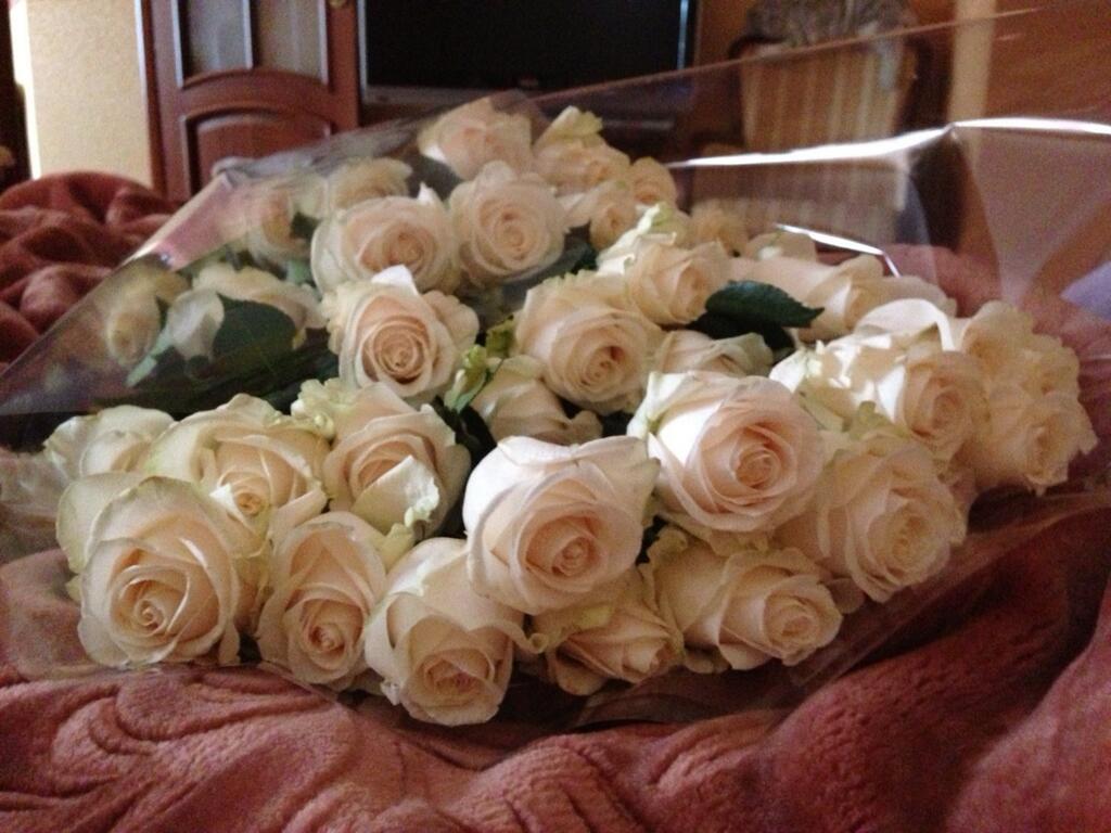 Розы в постели Анастасии Волочковой