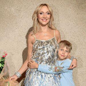 Кристина Орбакайте с сыном - счастливые