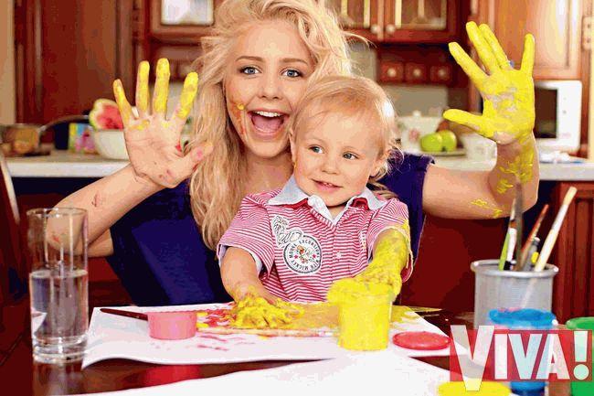 Тина Кароль и сын