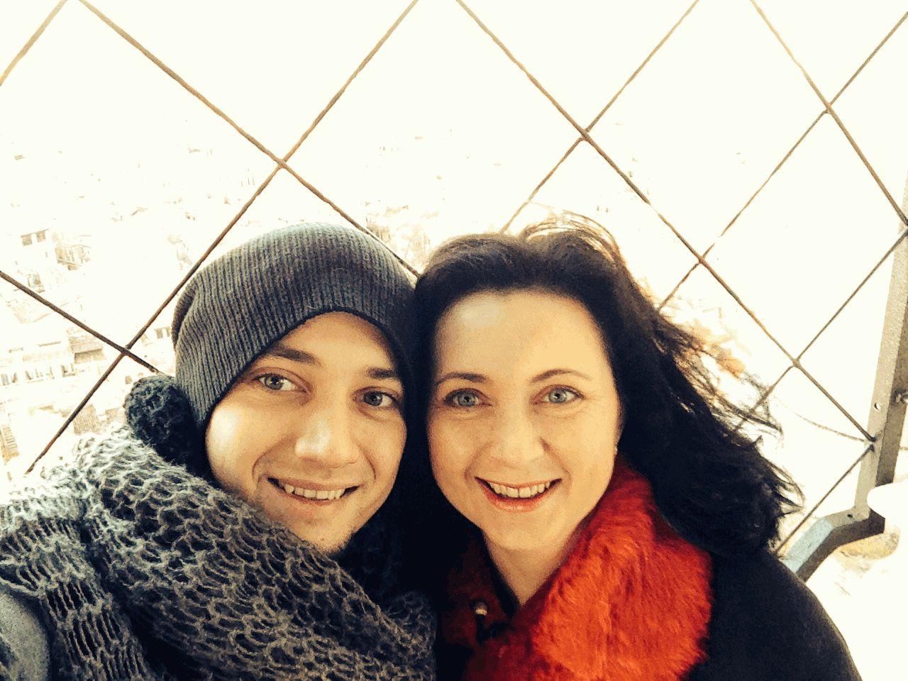 Стас Шуринс с мамой