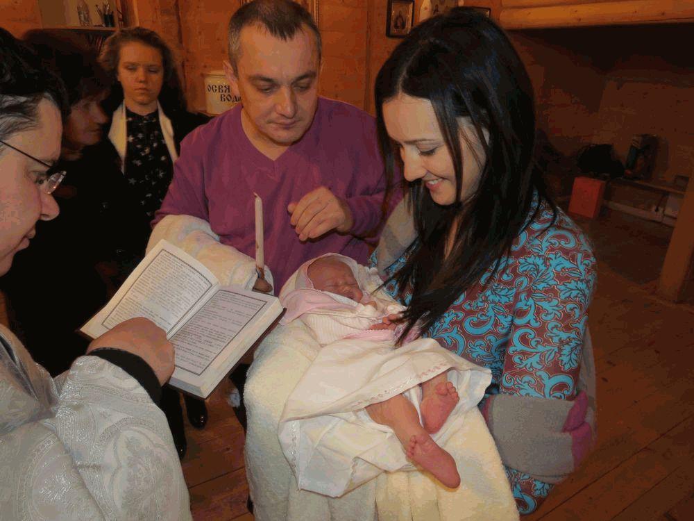 Соломия Витвицкая с крестницей