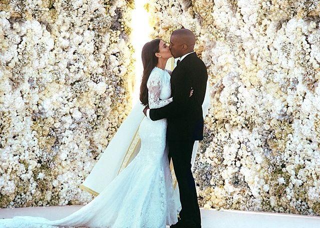 Ким Кардашьян и Канье Уэст свадьба
