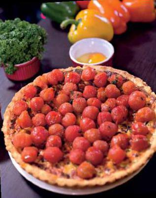 Кныш с томатами черри