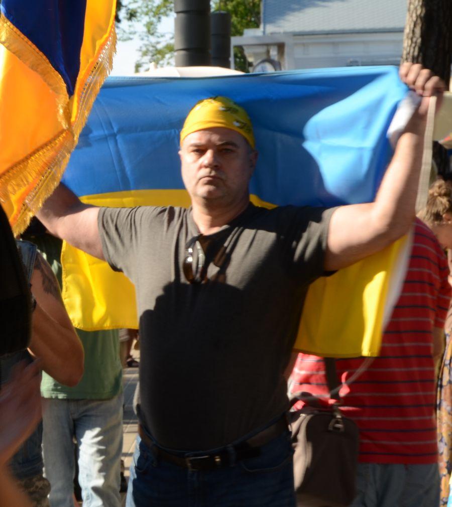 митинг против Путина в Юрмале