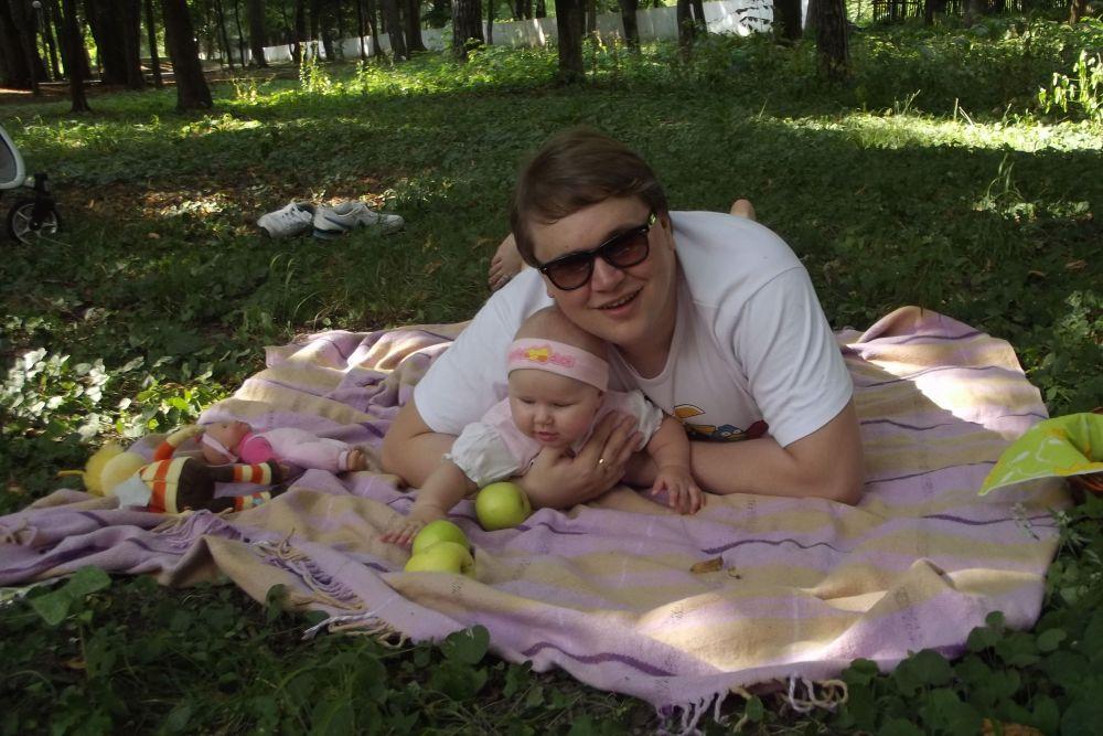 Иван Ганзера с дочерью