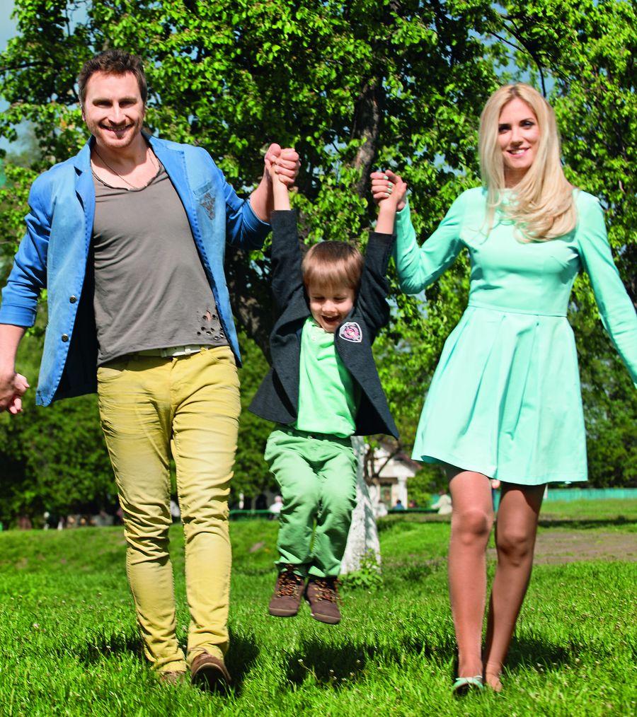 Олег Собчук с женой и сыном