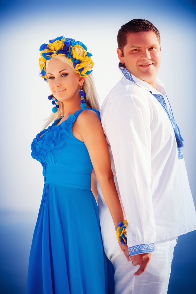 Катя Бужинская с мужем