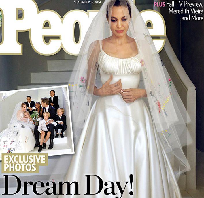 Первые свадебные фото Анджелины Джоли и Брэда Питта