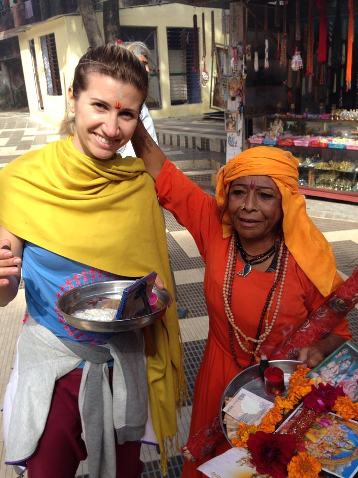 Анита Луценко в Индии